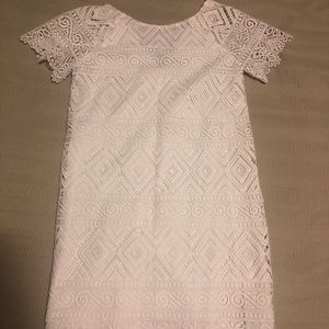 Madewell- White lace shift dress
